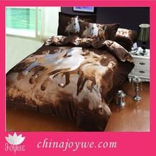 New Horse Print Bedding Set 3D , Double size 3D Bedding Quilt Animal Duvet Cover Bed Sheet Pillowcase Set 4pcs