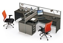 Pictures of office furniture partitions specifications 2 person workstation IC005
