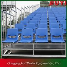 JY-715 factory price Blue disassemble basketball bleacher Metal Frame Plastic basketball bleacher