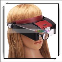 Headset 10X Magnifying Glass Lens Visor with 2 LED Light