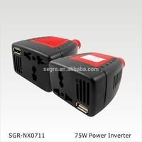 for car dc 12v ac 110v 75w mini power inverter