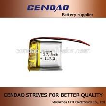 Model no 652020 li polymer battery 3.7V lithium battery 180mah OEM battery