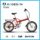 250W bafang motor drived electric folding bike TZ202,with Tourney 6 speed