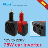 Red/black 75W car power 220V small inverter