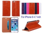 Flip PU Stand Leather Wallet pouch cover for iPhone 6 4.7 inch case