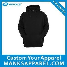light weight plain black hoodie 240gsm thickness