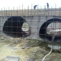 bridge supporting steel pipe semicircular corrugated steel culvert pipe