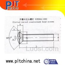 DIN 964 Slotted raised countersunk head screws