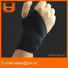 Adjustable Black Neoprene Palm Wrist Strap Hand Wrap Support Brace Band Sprain