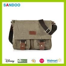 Classic simple school shoulder messenger bag, custom laptop bag