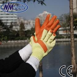 NMsafey Super grip orange rubber gloves latex work gloves cheap