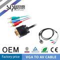 sipu vga de alta calidad a 3 rca cable vga a rca cable divisor