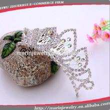 rainbow crystal hair combCS006 bridal wedding hair comb crown tiara wholesale