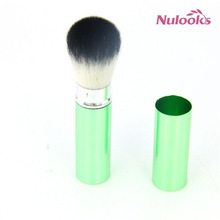 green retractable powder brush 082