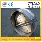 China manufacturer CF8 stainless steel butterfly check valve