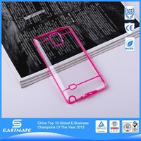 Dual Color Bumper Case rubber protect skin clear pc hard case for galaxy note 4 6s