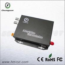 Chuangyuan 2 channel Video Fiber Optical Transceiver Fiber Optic Equipment