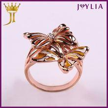 Profesional de la joyería fuente de la fábrica de cristal tambor anillo de cierre