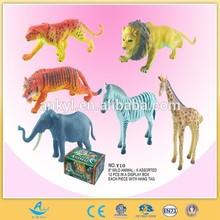 8 inch plastic animal set toy wild animal toy baby toy