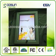 swing open poster frame / lockable poster frame