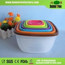 7 pcs airtight clour plastic food container/fresh keeping box