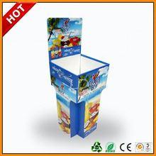 2 showing sides dump bins standee ,2 showing sides dump bins display ,2 cells retail cardboard dump bins