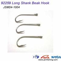 high carbon steel 92259 long shank beak hook fish hook