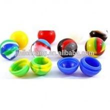 2014 Food Grade Non-sticky e-cigarette silicone wax/silicone oil ball container, tabacco container