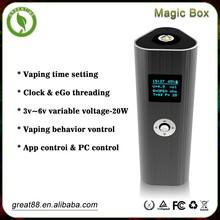 Ponta de cigarro oito cores caixa mágica 25 w mod grande bateria e cigarro