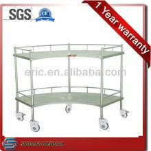 2 layers hospital SS Fan-Shaped Operation Apparatus Table , Mesa en abanico para instrumentos de operacion