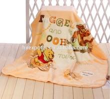 100% Polyester Super Soft Flannel Fleece Baby Blanket & Raschel Blanket