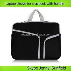 "Zipper neoprene sleeve for laptop macbook 13"" 15"" retina, laptop sleeve"