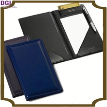 Competitive factory price handmade leather pu bill holder for hotel/ cheque cover for bar and cafe