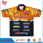 Made to order professional motor racing uniforms /full sublimation printing motor jersey