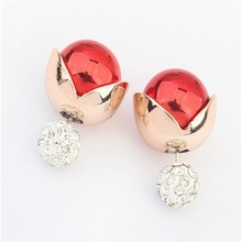 Most beautiful alibaba fashion jewelry Cheap elegant gold plated stud design artificial pearl earrings