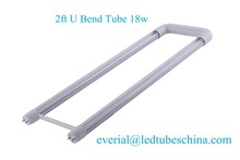 UL CUL Clear or Frosted T8 U Bend Led Tube 2ft 18w Internal and External Driver Optional