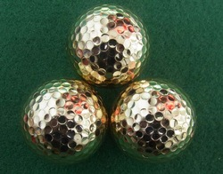 Electroplated practice golf ball range and tournament golf ball practice bag