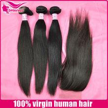 3 bundles a lot 4 bundles a lot hair with closure good smell silky soft virgin brazlian straight hair