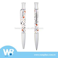 High quality heat transfer print metal ball pen