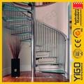 Vidro escadaria em espiral/moderna escada em espiral/açoinoxidável vidro escadaria em espiral