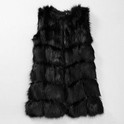 HOT SALE !2015 Winter New Products Female Fur Coat Slim Sleeveless fur Jackets Women Faux rabbit Fur Outerwear