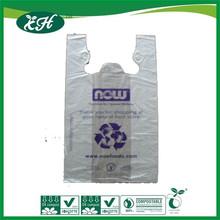 wholesale EN13432 SGS 3rd-audited cornstarch compostable promotional shopping bag