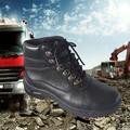 el diseño especial de doble del dedo del pie de cuero de seguridad zapatos de trabajo