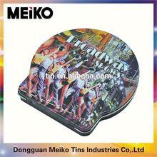 hinged lid cd tin boxes