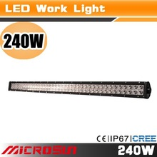 "hot sale!! 240W super bright 44"" led light bar , led work light,cheap led working light Jeep,Truck,motorcycle,Atv"