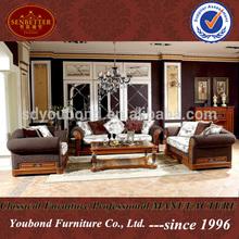 0029 High end arabic teak wood sofa set designs