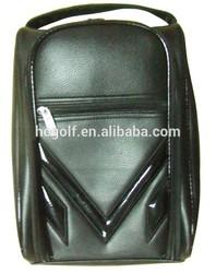 embossed logo fine hardware finish PU golf shoes bag