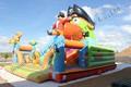 Коммерческий IInflatable отказов дом желтый дизайн надувные город для детей на открытом воздухе игры