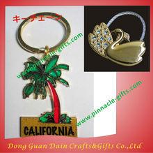 classic promotional Zinc Alloy Crystal Goat Keychain