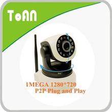 TOAN 1.0mp 720p ip camera TA-C53100 wireless indoor h.264 mini ptz ip camera